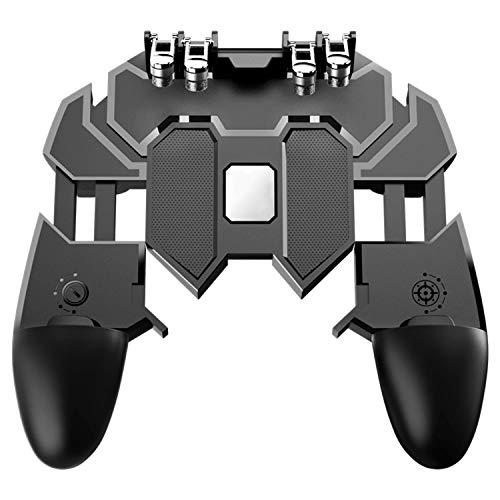 [2019 Latest Version] Mobile Game Controller for Pubg, 6-Finger Easy  Operation L1R1 Mobile Game Trigger Joystick Gamepad Grip Remote for  4 7-6 5