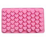 Lumanuby 1 Stück Formen,Silikon Material Backformen,55 Kleine Herzform Design, Mold Größe:18.5 * 11 * 1.4cm, Zufällige Farbe, Schönes Küche Zubehör für Schokolade DIY