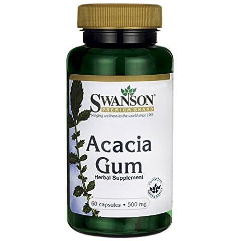 Swanson Gomme Arabique (Acacia Seyal) 500mg, 60 gélules - Confort