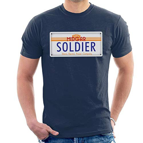Cloud City 7 Final Fantasy Midgar Soldier License Plate Men's T-Shirt