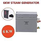 Generatore di vapore, 6KW Docce a vapore Riscaldatore per sauna Sauna a vapore per uso domestico Steam Home Steam TM60 Pannello di controllo del tempo di controllo della temperatura(Norma UE 220V)