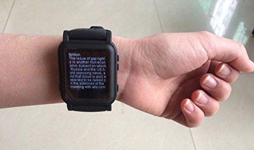 Reloj chuleta electrónico con botón de emergencia (Negro)