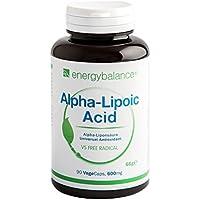 Alpha-Liponsäure 600 mg   Alpha-Lipoic Acid   Thioctsäure   Antioxidantien   Vegan   Glutenfrei   Ohne Zusatzstoffe   GVO-frei   90 VegeCaps