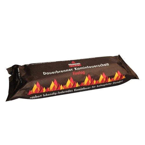 Spar-Set: 60 Stück (6 Kartons á 10 Stück) KaminoFlam® - Kaminfeuer Dauerbrenner Kaminfeuerscheit, Brennstoff für Kaminofen, Holzofen, Kachelofen