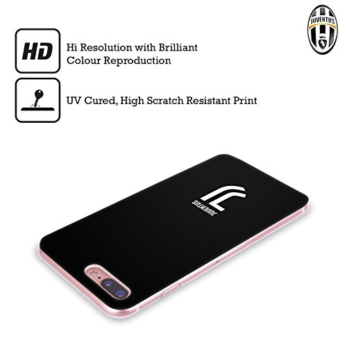 Offizielle Juventus Football Club Logotype Lifestyle 2 Soft Gel Hülle für Apple iPhone 6 / 6s Klar