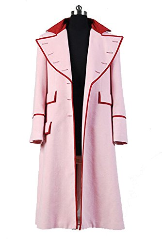 Doctor Who Dr. Long Pink Cashmere Trench Coat Cosplay Kostüm Herren (Kostüm Zehn Who Doctor)