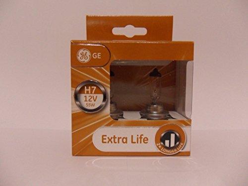 Preisvergleich Produktbild GE General Electric H7 12V 55W Halogen Extra Life 2er Set 58520DPU PX26d in der GE box