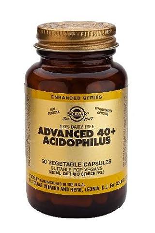 Solgar-Advanced 40+ Acidophilus (Non-Dairy) Vegetable Capsules 60