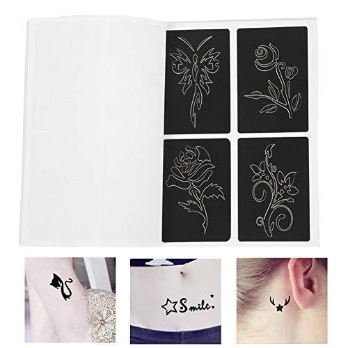 Tattoo-Schablonen, Set temporäre Tattoo-Schablonen für den Rücken des Arms, selbstklebend, wiederverwendbar, kleine Schablone für semi-permanentes Tattoo 118 temporäre Schablonen