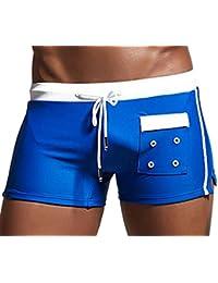 Y-BOA Pantalon Court Homme Short De Bain Poche Sport Plage Loisir