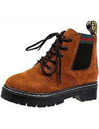 Botas Cortas Redondas Martin Boots Women's England Rough para Mujer , marron oscuro , EUR36.5