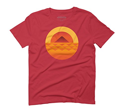Summer sunset Men's Graphic T-Shirt - Design By Humans Red