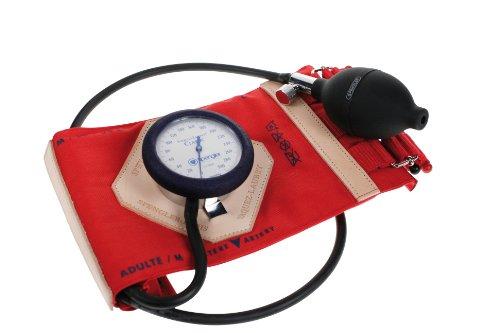 Spengler Vaquez-Laubry Blutdruckmessgerät mit Manschette, Bänderverschluss, Baumwolle, Gr. M, für Erwachsene, Rot -