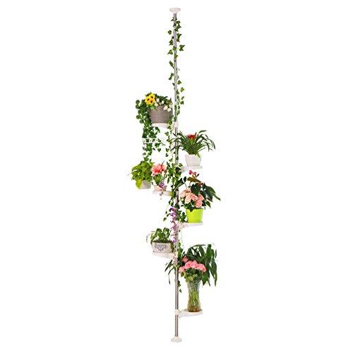 BAOYOUNI planta 7capas de interior Stands primavera tensión poste metálico de flores...