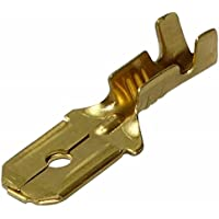AERZETIX: 100 x Terminales electricos planos macho 6.3mm 0.8mm 0.5-1.5mm2