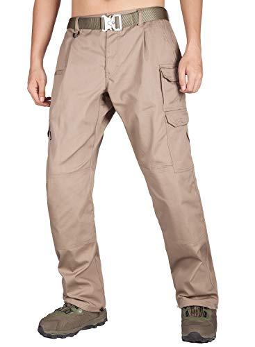 ITALY MORN Pantaloni Cargo Uomo da Lavoro Leggeri Tattico per Uomo Sportivi Combat Pants(34W x 30L, Cachi 19)