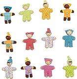 BIGJIGS RAILS Happy Puppenhaus Baby Doll–African American–Blau Print