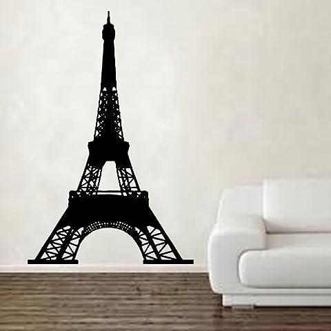 Kult Kanvas 60 x 92 cm de Large, IN5–Tour Eiffel-Sticker mural en vinyle à plat, rose, 60 x 92 cm