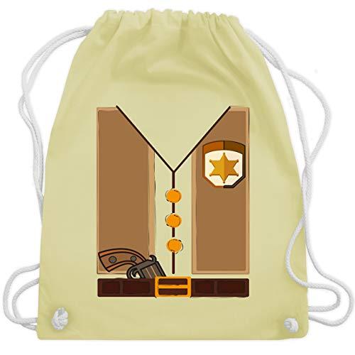 Karneval & Fasching Kinder - Cowboy Kostüm - Unisize - Pastell Gelb - WM110 - Turnbeutel & Gym Bag (Gaucho Kostüm)