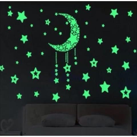 Adesivi Murali Diy Decalcomanie Brillano Stickers Scuri Luminoso Fluorescente Per