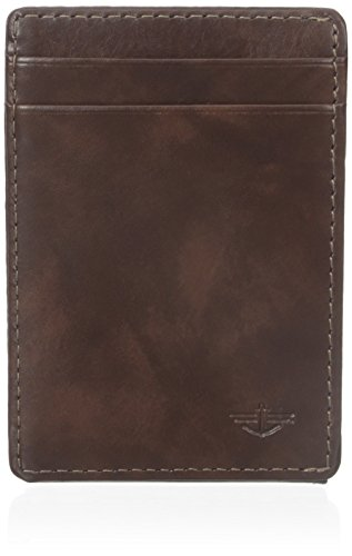 dockers-mens-wide-slim-magnetic-front-pocket-wallet-brown-one-size
