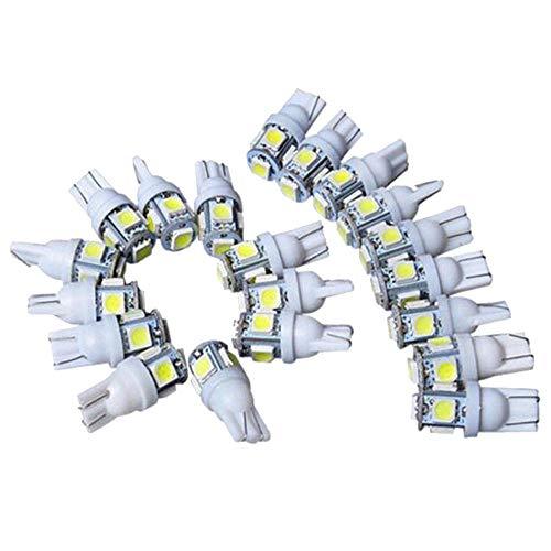 styleinside 50pcs T10 Couleur 5SMD Wedge Lamp 5050 LED Ampoules 12v 194 168 Rouge Bleu Vert Blanc