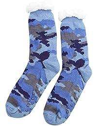 FERETI Calcetines Casa Hombre Camouflage Multicam Grueso Forrada Térmicos Forro Tug