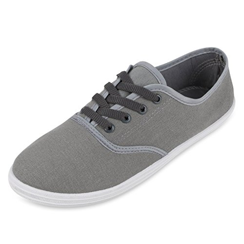 Herren Damen Unisex Sneakers Low Freizeit Turnschuhe Schuhe Bequem Grau