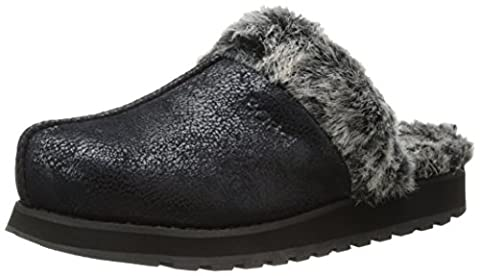 Skechers Keepsakes - Winter Wonder, Damen Flache Hausschuhe, Schwarz (blk), 37 EU