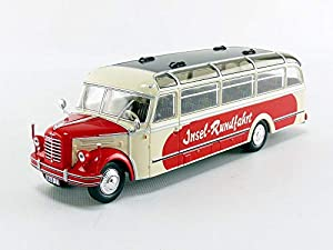 IXO Coche de ferrocarril de Collection, bus014, Rojo/Blanco