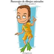 Personajes de dibujos animados libro para colorear para adultos 3: Volume 3