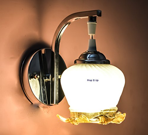 SFL Smart look Attractive classy Chrome Wall Lamp For Home Intirior with White and Golden Glass.
