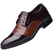 Zapatillas de Hombre de BaZhaHei, Moda Hombre Zapatos de cuero casuales Zapatos planos Zapatos de