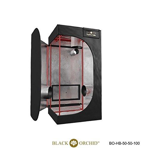 Black Orchid 50x 50x 100Zelt Gewächshaus Indoor Grow Room Fan Vorhang Bud Camera Pflanze Gewächshaus angebaut Fan