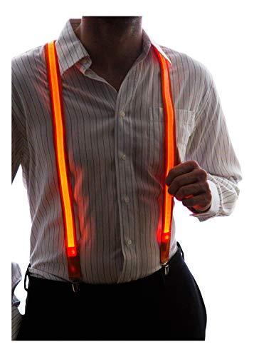 Neon nightlife light up reggicalze led, un formato degli uomini, arancione