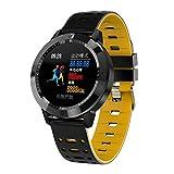 Hokaime Waterproof Sports Watch, Smart Bracelet Weather Information Heart Rate Waterproof Sports Watch, Yellow