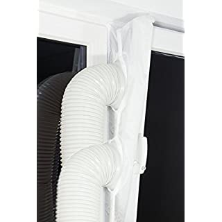 Plus-2 window sealing/-lock/-air curtain for mobile air-conditioning units, dehumidifiers or exhaust air dryers to all window openings on the roof and wall, hot air stop Plus-2 airstop