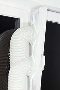plus 2 fensterabdichtung lock luftvorhang schleuse f r mobile klimager te entfeuchter. Black Bedroom Furniture Sets. Home Design Ideas