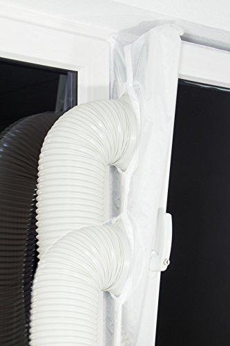 Plus-2 Fensterabdichtung /-Lock /-Luftvorhang /-Schleuse für mobile Klimageräte, Entfeuchter oder Ablufttrockner an alle Fensteröffnungen an Dach und Wand - hot air stop PLUS-2 airstop
