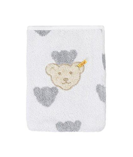 Steiff Baby unisex Waschlappen 2968, Grau (Softgrey Melange)