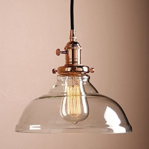 Pathson 9.8 Inch Industrial Vintage Modern Dome Clear Glass Shade