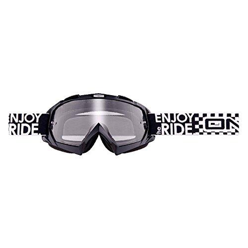 O'Neal B-Flex Goggle Cross Brille LAUNCH Schwarz MX Moto Cross Enduro Mountain Bike Motorrad, 6024BL-100