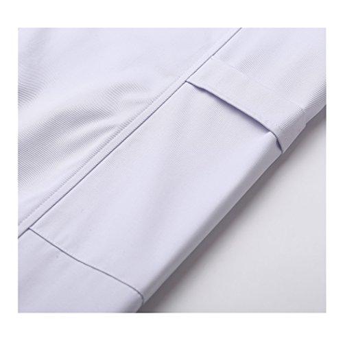 Lange abschnitt langärmelige weiß arbeit kittel ärzte krankenschwestern bekleidung arbeitskleidung (damen, S) - 5