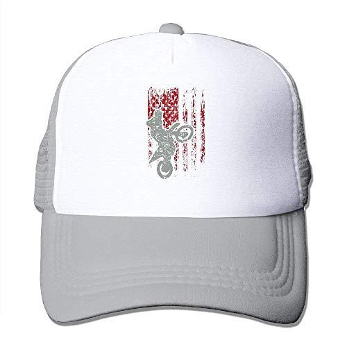 Voxpkrs Motocross USA Flagge Adjustbale Baseballmützen Sommer Sun Hat Tracker Cap U8I001895