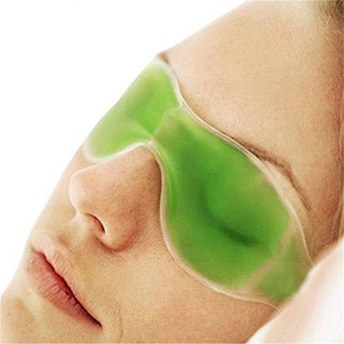 Augenmaske mit kühlendem Gel gegen Augenschmerzen, Augenermüdung, zur Entfernung von dunklen Augenringen, für guten Schlaf, Zufallsfarbe (Entspannt Auge Wasser)
