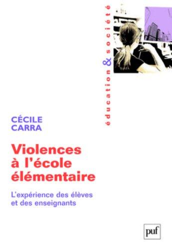 Violences à l'école élémentaire
