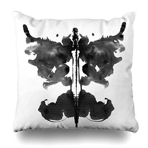 saletopk Kissenbezug Tinte Aquarell Psychologie Rorschach Inkblot Test abstrakte Psychiatrie Psychiatrie Schizophrenie Dekorative Kissenbezug 45,7 x 45,7 cm quadratisch Home Decor Kissenbezug