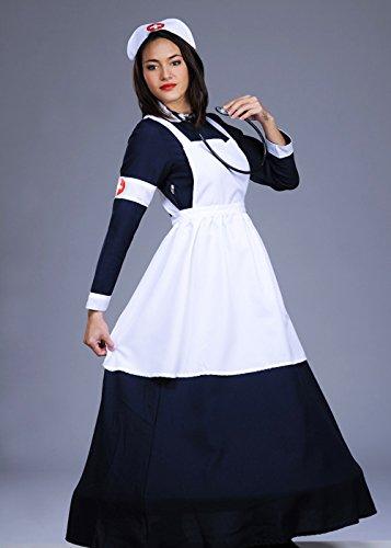 Frauen 1940er Jahre Langzeit Krankenschwester Kostüm Small (UK 8-10)