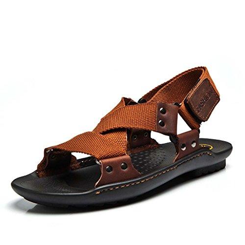 ZXCV Chaussures de plein air Chaussures de plage occasionnelles pour sandales pour hommes ( Couleur : Vert , taille : 44 ) Marron