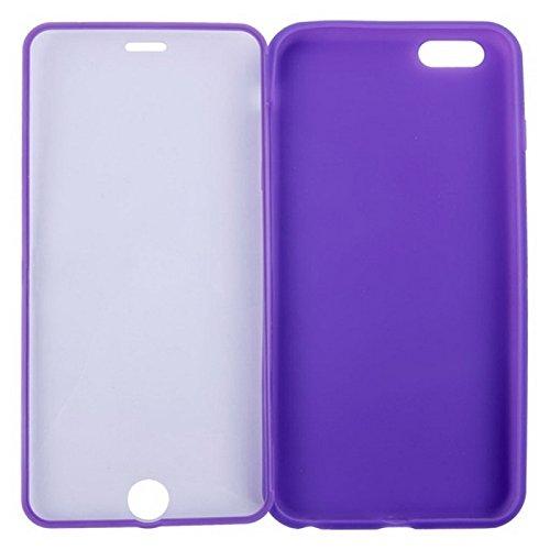 Wkae Case Cover horizontale flip touchscreen vereiste tpu - schutz für iphone 6 &65 ( Color : Purple ) Purple